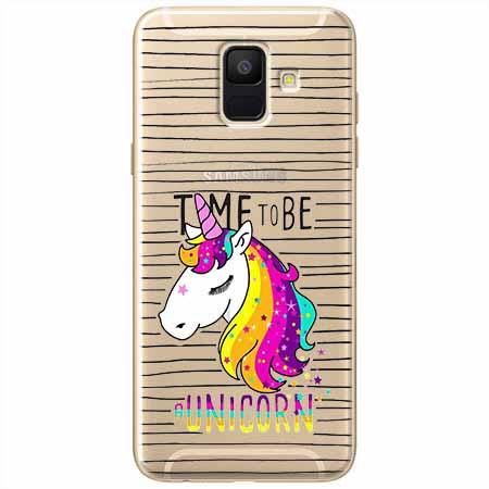 Etui na Samsung Galaxy A8 2018 - Time to be unicorn - Jednorożec.