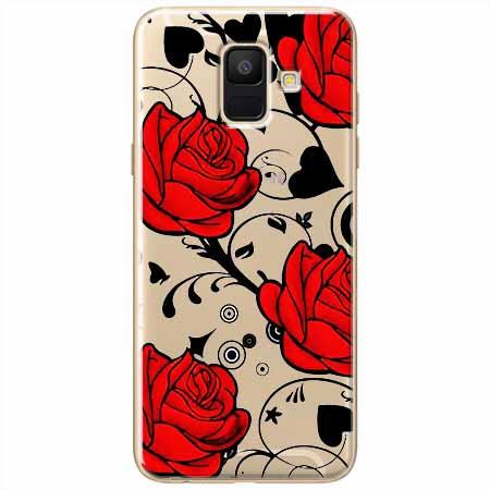 Etui na Samsung Galaxy A8 2018 - Czerwone róże.