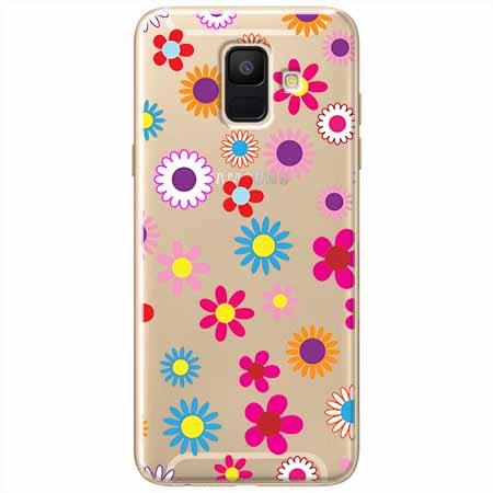 Etui na Samsung Galaxy A8 2018 - Kolorowe stokrotki.