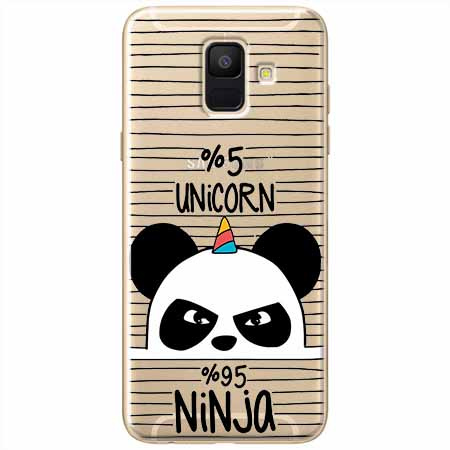 Etui na Samsung Galaxy A8 2018 - Ninja Unicorn - Jednorożec.