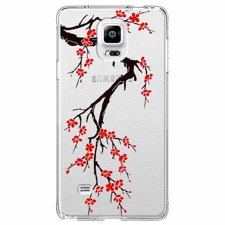 Etui na Samsung Galaxy Note 4 - Krzew kwitnącej wiśni.