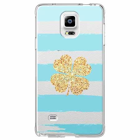 Etui na Samsung Galaxy Note 4 - Złota czterolistna koniczyna.