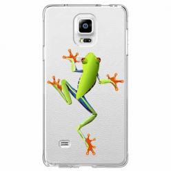 Etui na Samsung Galaxy Note 4 - Zielona żabka.