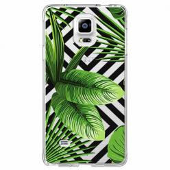 Etui na Samsung Galaxy Note 4 -  Egzotyczne liście bananowca.