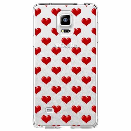 Etui na Samsung Galaxy Note 4 - Czerwone serduszka.