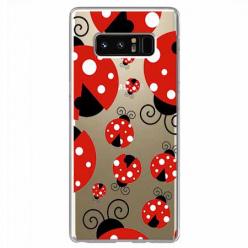 Etui na Samsung Galaxy Note 8 - Czerwone wesołe biedronki.