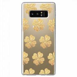 Etui na Samsung Galaxy Note 8 - Złote koniczynki.