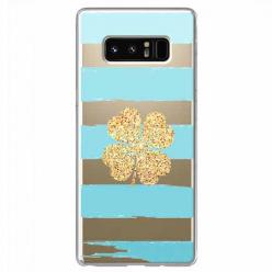 Etui na Samsung Galaxy Note 8 - Złota czterolistna koniczyna.