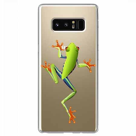 Etui na Samsung Galaxy Note 8 - Zielona żabka.