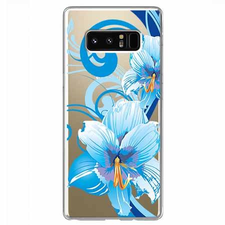 Etui na Samsung Galaxy Note 8 - Niebieski kwiat północy.