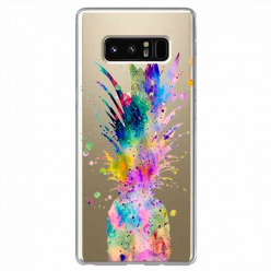 Etui na Samsung Galaxy Note 8 - Watercolor ananasowa eksplozja.