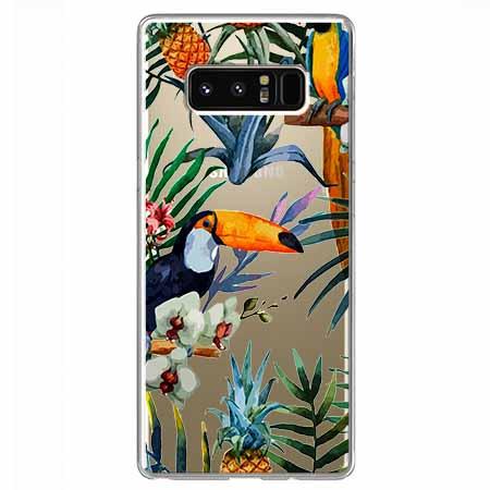 Etui na Samsung Galaxy Note 8 - Egzotyczne tukany.