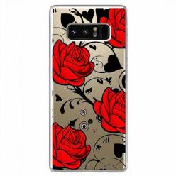 Etui na Samsung Galaxy Note 8 - Czerwone róże.