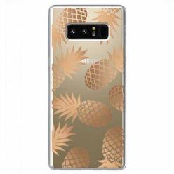 Etui na Samsung Galaxy Note 8 - Złote ananasy.
