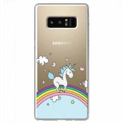 Etui na Samsung Galaxy Note 8 - Jednorożec na tęczy.