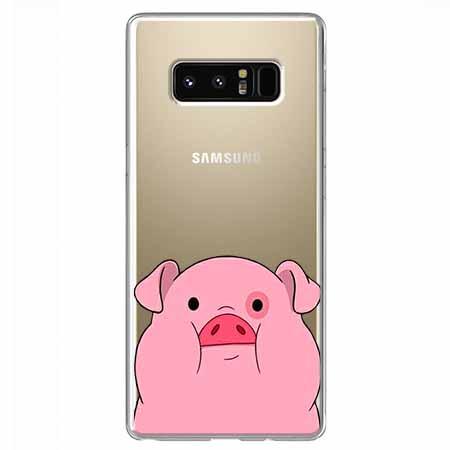 Etui na Samsung Galaxy Note 8 - Słodka różowa świnka.