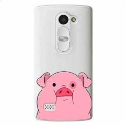Etui na LG Leon - Słodka różowa świnka.