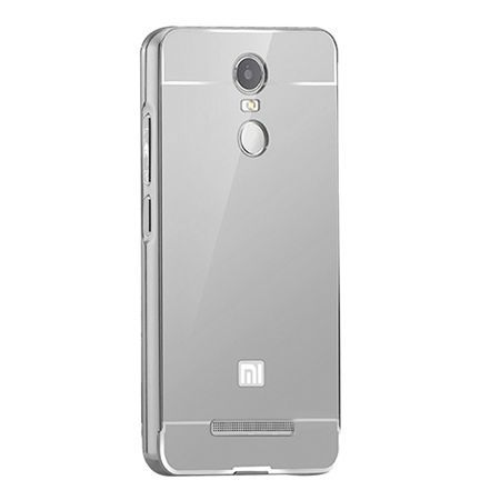 Mirror bumper case na Xiaomi Redmi Note 3 - srebrny.