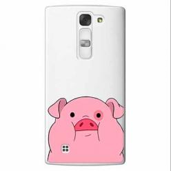 Etui na LG Spirit - Słodka różowa świnka.