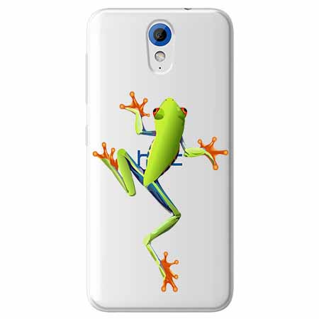 Etui na HTC Desire 620 - Zielona żabka.