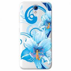 Etui na HTC Desire 620 - Niebieski kwiat północy.