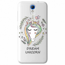Etui na HTC Desire 620 - Dream unicorn - Jednorożec.