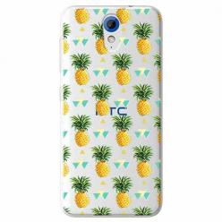 Etui na HTC Desire 620 - Ananasowe szaleństwo.