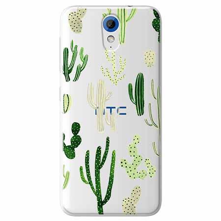 Etui na HTC Desire 620 - Kaktusowy ogród.
