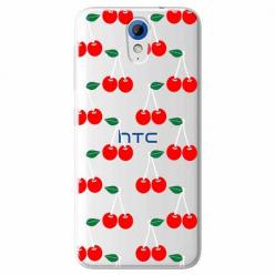 Etui na HTC Desire 620 - Wiśniowa plejada.