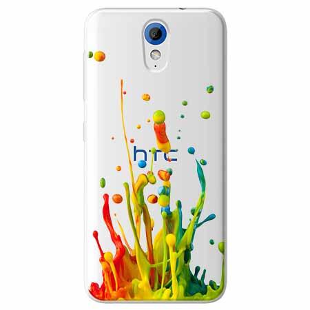 Etui na HTC Desire 620 - Kolorowy splash.