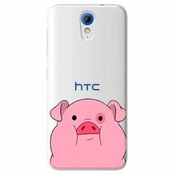 Etui na HTC Desire 620 - Słodka różowa świnka.
