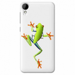 Etui na HTC Desire 825 - Zielona żabka.