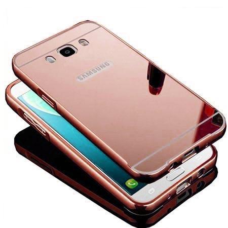 Mirror bumper case na Galaxy J7 2016r - Różowy