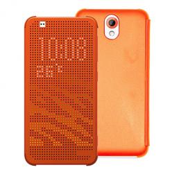 HTC Desire 620 - etui Flip Dot View z klapką - Różowy.