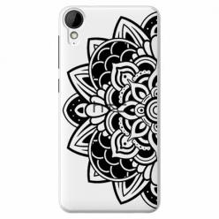 Etui na HTC Desire 825 - Kwiatowa mandala.