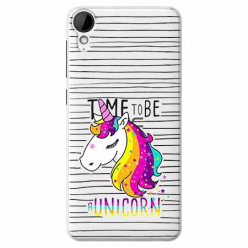 Etui na HTC Desire 825 - Time to be unicorn - Jednorożec.