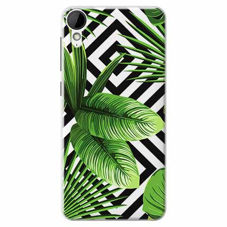 Etui na HTC Desire 825 -  Egzotyczne liście bananowca.