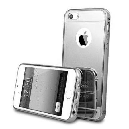 Mirror aluminium bumper na iPhone 4 / 4s case lustro - srebrny