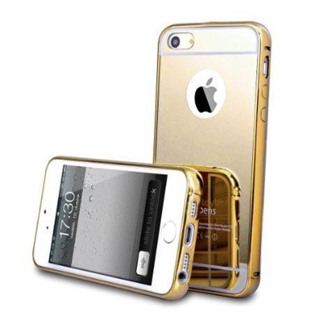 Mirror aluminium bumper na iPhone 4 / 4s case lustro - złoty.