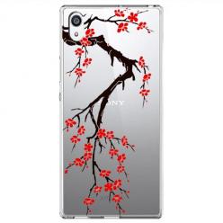 Etui na Sony Xperia E5 - Krzew kwitnącej wiśni.
