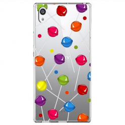 Etui na Sony Xperia E5 - Kolorowe lizaki.
