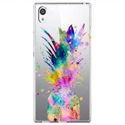 Etui na Sony Xperia E5 - Watercolor ananasowa eksplozja.