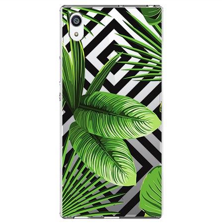 Etui na Sony Xperia E5 -  Egzotyczne liście bananowca.