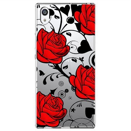 Etui na Sony Xperia E5 - Czerwone róże.