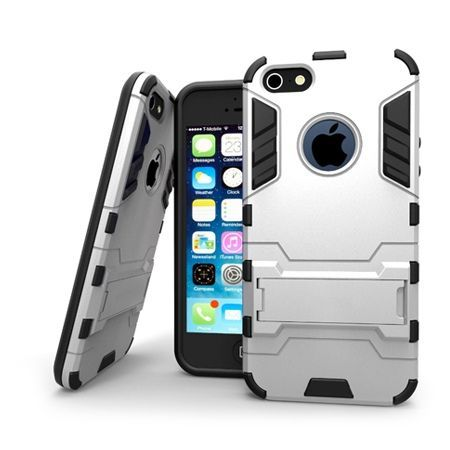 Pancerne etui na iPhone SE - Srebrny
