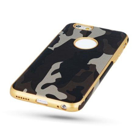 Etui na iPhone SE silikonowe TPU Army moro - Brązowy.