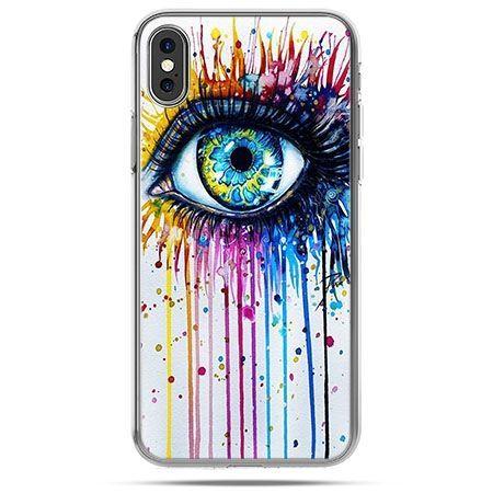 Etui na telefon iPhone XS - kolorowe oko