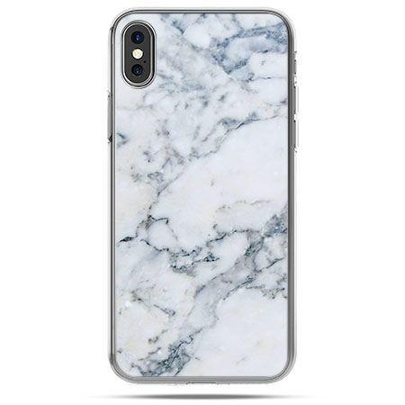 Etui na telefon iPhone XS - biały marmur