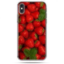 Etui na telefon iPhone XS - czerwone truskawki