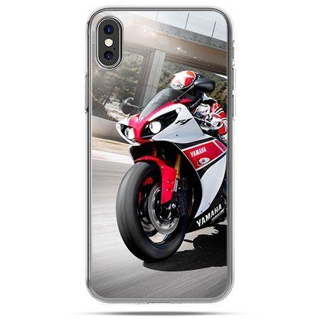Etui na telefon iPhone XS - motocykl ścigacz